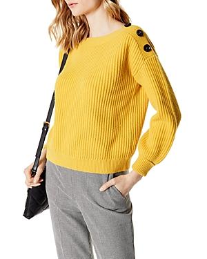 Karen Millen Button Detail Rib-Knit Sweater