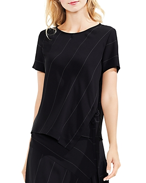 Vince Camuto Wide Chalk-Stripe Top