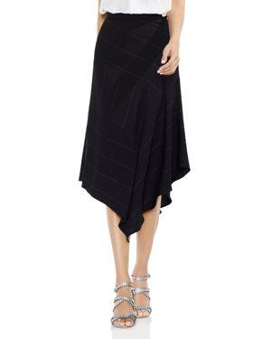 Vince Camuto Wide Chalk-Stripe Skirt