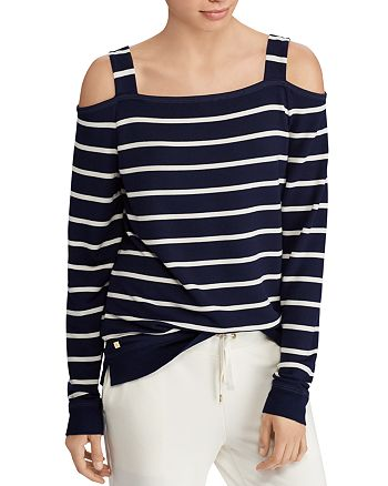 Ralph Lauren - Striped Cold-Shoulder Top