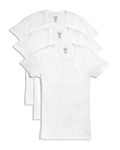 2(X)IST Slim Fit Deep V-Neck Tee, Pack of 3 - Bloomingdale's_0