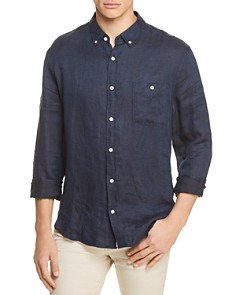 7 For All Mankind Oxford Linen Button-Down Shirt - Bloomingdale's_0