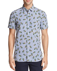 BOSS Orange Cattitude Pineapple Print Short Sleeve Button-Down Shirt - Bloomingdale's_0