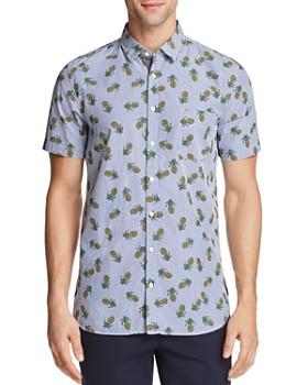 BOSS - Cattitude Pineapple Print Short Sleeve Button-Down Shirt