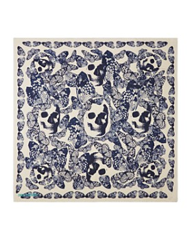 Zadig & Voltaire - Kerry Butterfly Skull Print Scarf