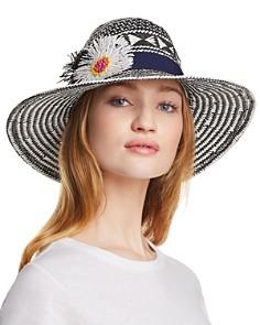 Echo Wow Appliquéd Panama Hat - Bloomingdale's_0