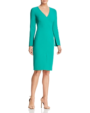 Black Halo Sambora Slit-Sleeve Dress
