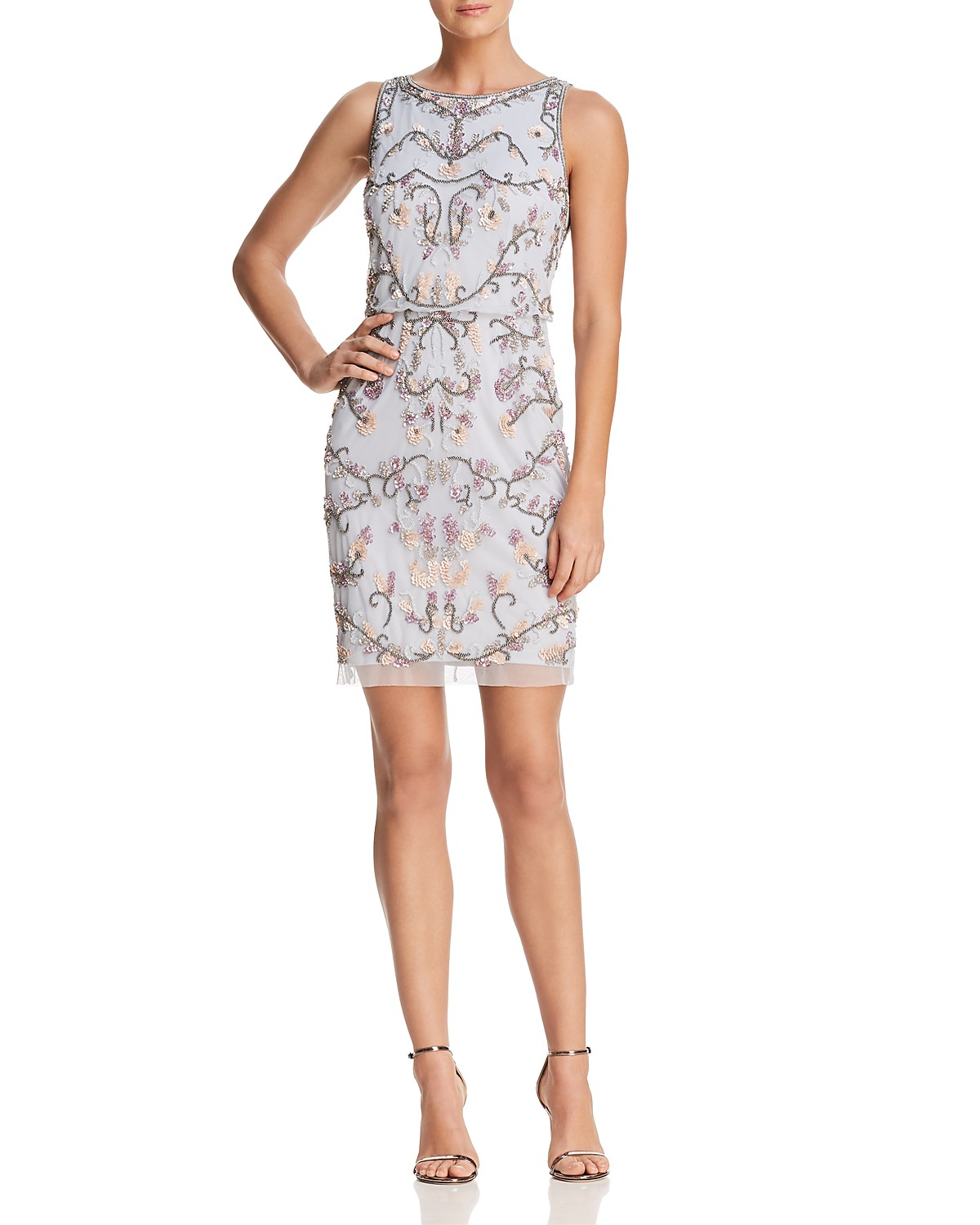 Adrianna Papell Embellished Cocktail Dress | Bloomingdale\'s