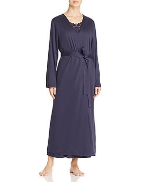 Hanro Jasmin Embroidered Long Robe