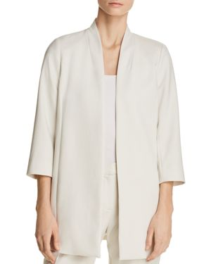 Eileen Fisher Petites Long Open-Front Jacket