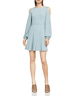 Bcbgmaxazria  BAILEY BUTTON COLD-SHOULDER DRESS