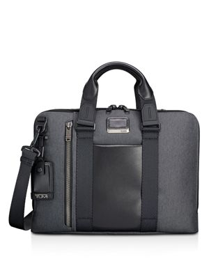 Alpha Bravo - Aviano Slim Briefcase - Grey in Graphite