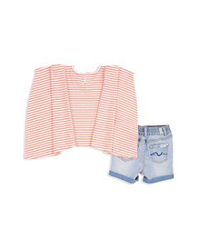 7 For All Mankind - Girls' Lace-Up Tee & Shorts Set - Baby