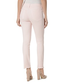 NYDJ - Sheri Frayed-Hem Slim Ankle Jeans in Light Primrose