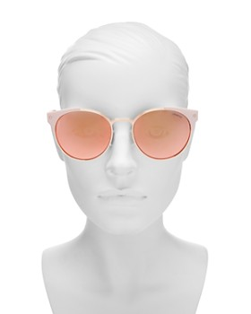 Polaroid - Women's Polarized Mirrored Round Sunglasses, 56mm
