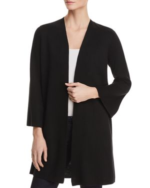 Eileen Fisher Waffle-Knit Open-Front Cardigan