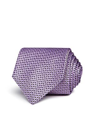 Boss Neat Wavy-Geo Silk Classic Tie