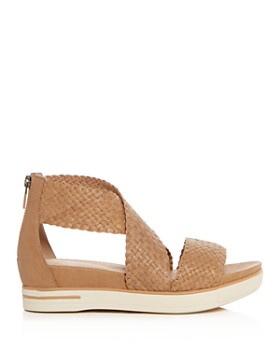 Eileen Fisher - Women's Woven Leather Crisscross Platform Sandals