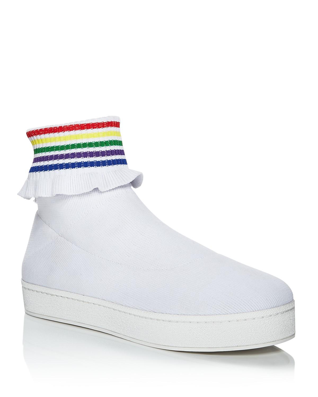 Opening Ceremony Women's Bobby Ruffled Sock Slip-On Sneakers
