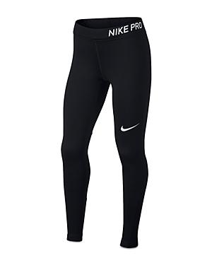 Nike Girls Pro Logo Leggings  Big Kid