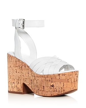Sigerson Morrison Women's Becca Leather Platform Wedge Sandals