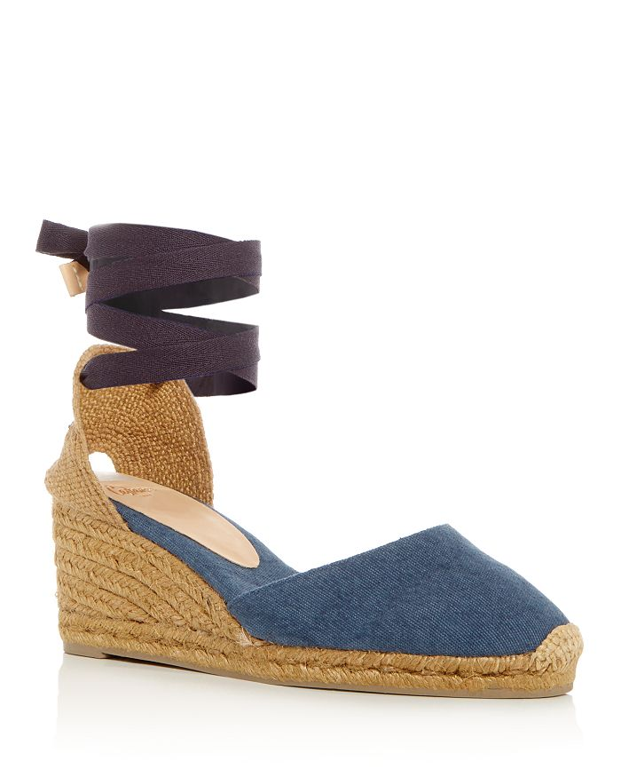 538381f57894 Castañer Women s Carina Ankle Tie Espadrille Wedge Sandals ...