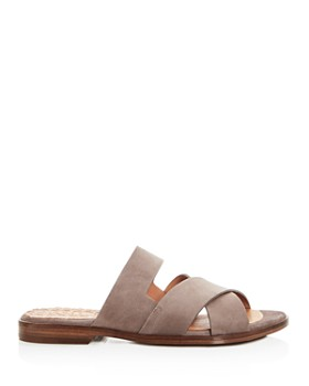 Chie Mihara - Women's Wanda Suede Crisscross Slide Sandals - 100% Exclusive