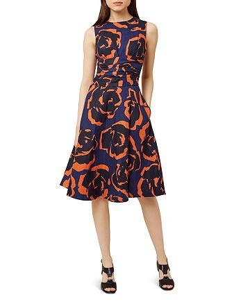 HOBBS LONDON - Twitchill Floral Print Linen Dress