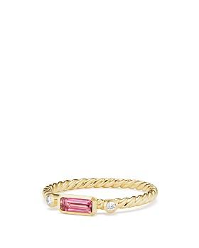 David Yurman - 18K Yellow Gold Novella Ring with Diamonds & Gemstones