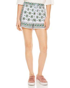 Happening Ivy Mosaic-Print Shorts, Sky Blue