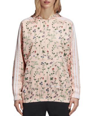 $adidas Originals Floral Print Windbreaker Jacket - Bloomingdale's