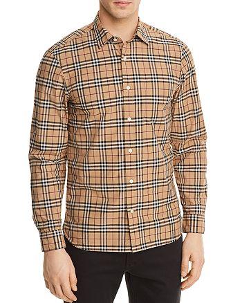 Burberry Alexander Plaid Button-Down Shirt   Bloomingdale s 0ac9647fa18