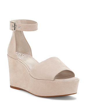 Vince Camuto Women's Korista Suede Platform Wedge Sandals