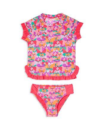 Hula Star - Girls' Butterfly Cutie Rash Guard Swimsuit Set - Little Kid