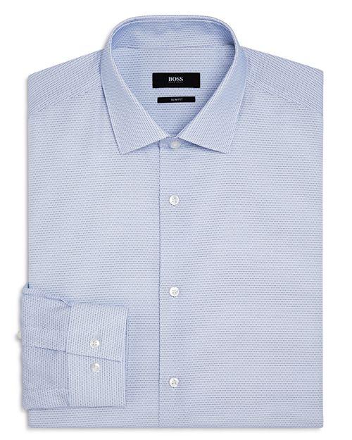 BOSS - Micro Dash Slim Fit Dress Shirt