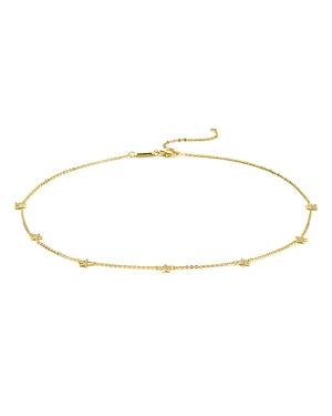 Pave Star Choker Necklace