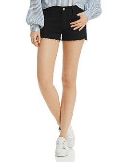 FRAME - Le Cutoff Denim Shorts in Noir Rookley