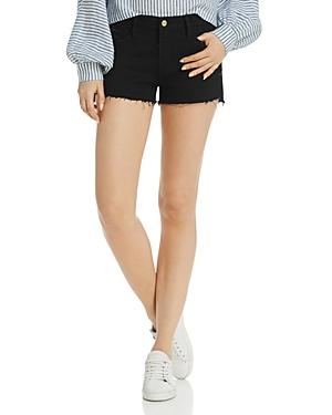 Frame Le Cutoff Denim Shorts in Noir Rookley