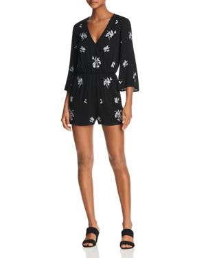 EN CREME FLORAL-EMBROIDERED ROMPER - 100% EXCLUSIVE