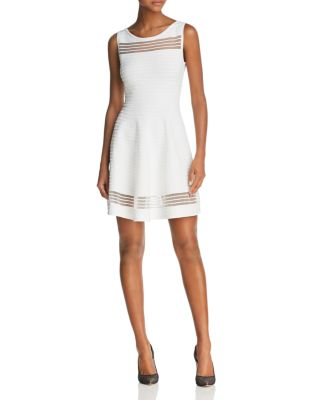 $FRENCH CONNECTION Tobey Mesh-Inset Dress - Bloomingdale's