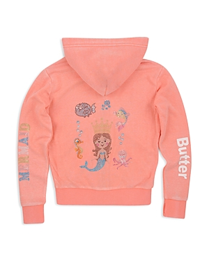 Butter Girls' Mermaid Applique Hoodie - Big Kid