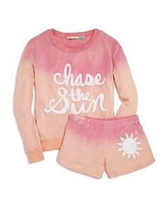 Vintage Havana Girls' Dip-Dyed Chase the Sun Sweatshirt & Shorts - Big Kid - Bloomingdale's_0