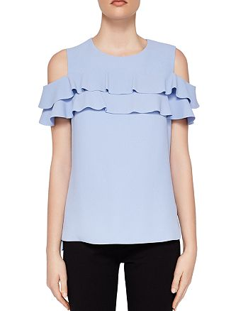 736b359ce392f Ted Baker - Hopee Cold-Shoulder Ruffle Top