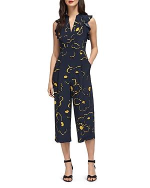 Whistles Lavene Printed Silk Jumpsuit