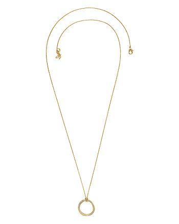 "ADORE - Long Organic Circle Rhinestone Necklace, 32"""