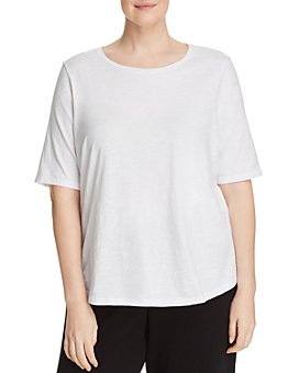 Eileen Fisher Plus - System Organic-Cotton Tee
