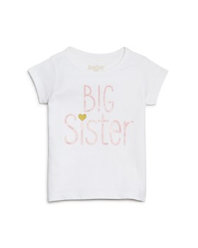 Sara Kety - Girls' Big Sister Glitter Tee, Little Kid - 100% Exclusive