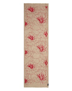 Fraas - Embroidered Floral Oblong Scarf