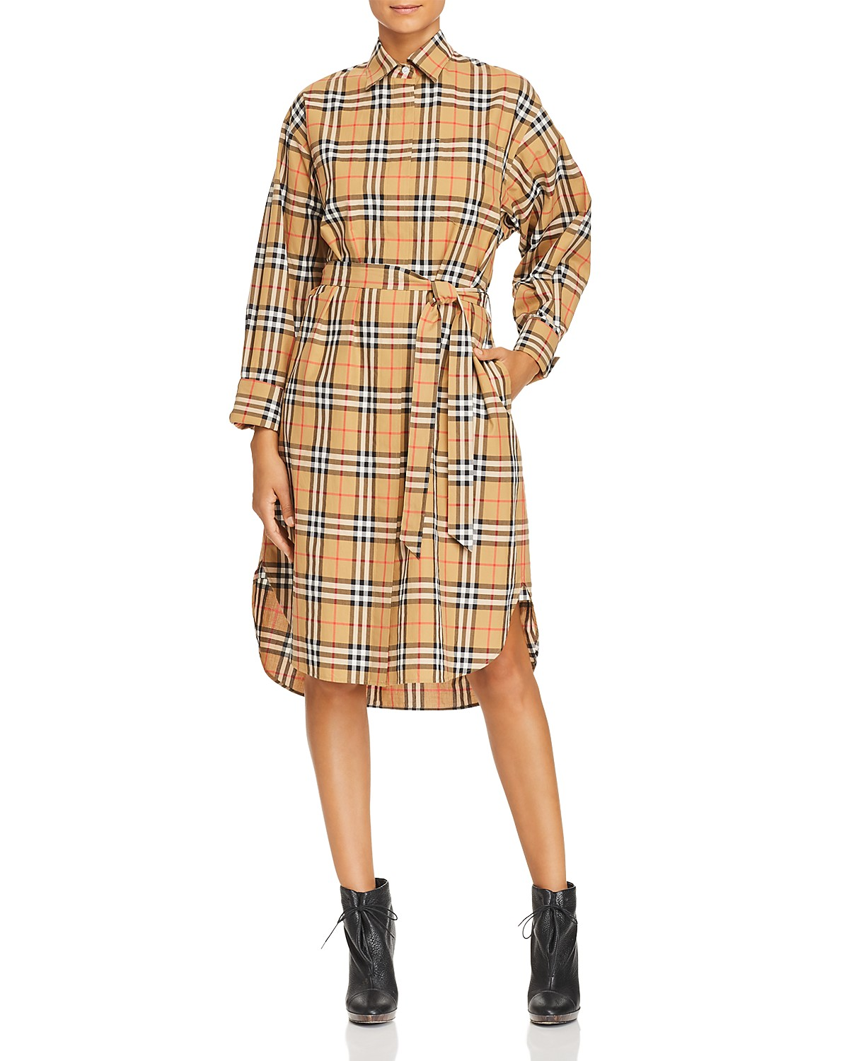 Burberry Isotto Plaid Shirt Dress | Bloomingdale\'s