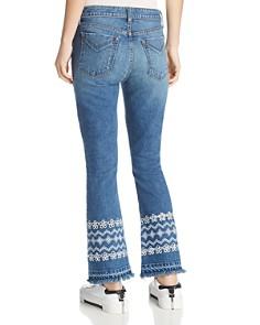 Derek Lam 10 Crosby - Jane Mid Rise Flip Flare Jeans in Medium